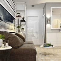 идея светлого декора малогабаритной комнаты картинка