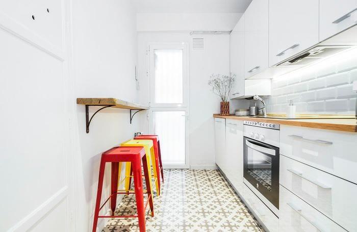 кухня 5 кв м с линейной планировкой