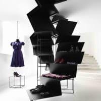 черно белый дизайн магазина одежды