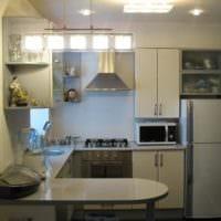 дизайн малогабаритной кухни с барной стойкой