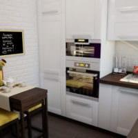 удобный дизайн малогабаритной кухни