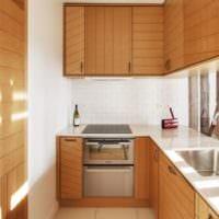 г-образная дизайн кухня 5 квадратных метров