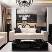 модерн в оформлении гостиной