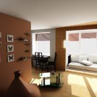 пространство балкона однокомнатной квартиры