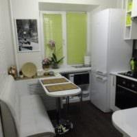 интерьер маленькой кухни 6 кв метров
