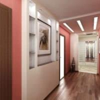 комбинирование обоев в коридоре