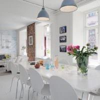 кухня столовая в квартире студии