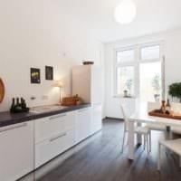 кухня столовая просторная