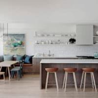 кухня столовая современный дизайн