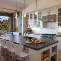кухня столовая стильный дизайн