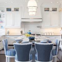 кухня столовая светлый дизайн