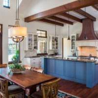 кухня столовая удобный интерьер