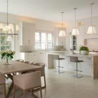 кухня столовая в доме
