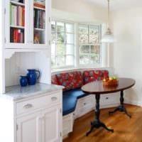 кухня с эркером фото планировки