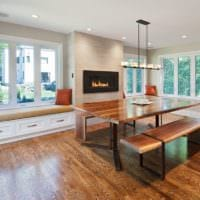 кухня с эркером современная планировка
