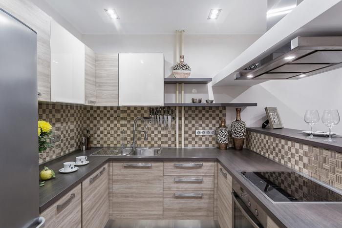 кухня 6 кв м с угловыми шкафами