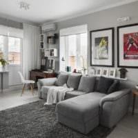 дизайн однокомнатной квартиры без лишних деталей