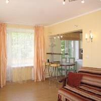 объединение маленького зала с кухней