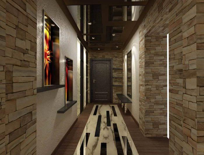 оформление узкого длинного коридора