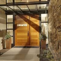 оформление крыльца дома дизайн