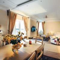 оформляем пространство гостиной столовой