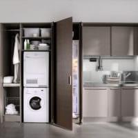 пример дизайна малогабаритной кухни