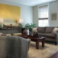 качественный дизайн маленькой гостиной