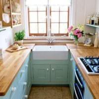 рабочая поверхность на кухне 5 кв м