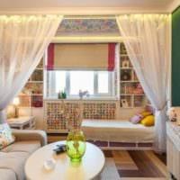зонирование маленькой гостиной