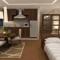 спальня однокомнатной квартиры