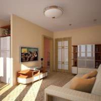 эклектика в дизайне однокомнатной квартиры