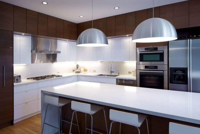 стиль модерн на кухне