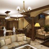 столовая гостиная в классическом стиле