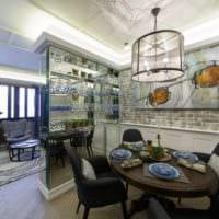 кухня столовая в стиле гранж