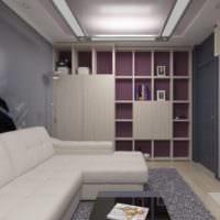 нейтральные тона в дизайне однокомнатной квартиры