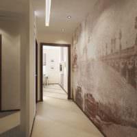 уютный длинный коридор