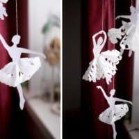 украшение окон к новому году из бумаги