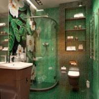 натуральные цвета в ванной