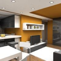 просторный дизайн однокомнатной квартиры