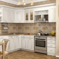 белый гарнитур на кухне