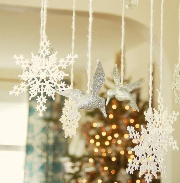 снежинки декор