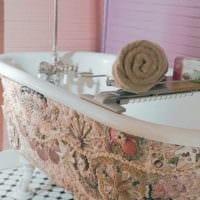 декор из ракушек ванная
