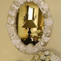 декор из ракушек зеркало фото