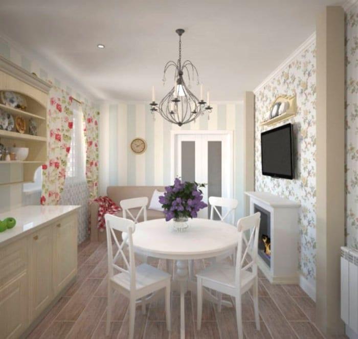 кухня 6 кв м прованс