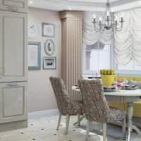 диван на кухне классический стиль