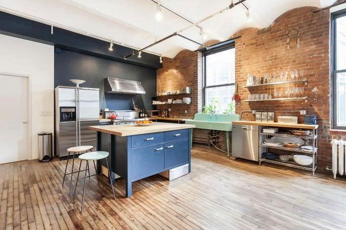 дизайн кухни лофт