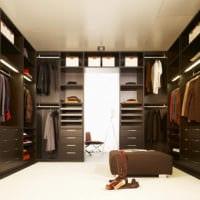 дизайн гардеробной комнаты дома