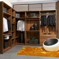 дизайн гардеробной комнаты интерьер