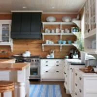 дизайн кухни на даче идеи