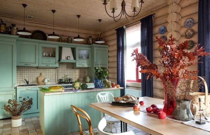дачная кухня в стиле кантри